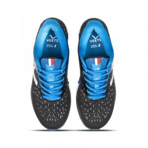 Lacets chaussure running homme Inside MIF 3 noir-bleu